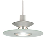 Juno Track Lighting TLP328FROST (TLPS P328 FRT) Decorative Pendant Luminous Disc Shade Frost Disc Color