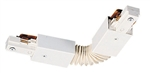 Juno Track Lighting TU20WH (TU20 WH) 2-Circuit Trac Master Accordion Adjustable Joiner, White Color