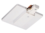 Juno Track Lighting TU21WH (TU21 WH) 2-Circuit Trac Master End Feed Connector and Outlet Box Cover, White Color