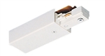 Juno Track Lighting TU38WH (TU38 WH) 2-Circuit Trac Master End Feed Connector, White Color
