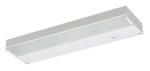 "Juno Undercabinet Lighting ULX212-WH 12"" 40W 12V Low Voltage 2-Lamps Xenon Bi-Pin Lamp, Economy Xenon Undercabinet Fixture, White Finish"