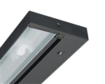 "Juno Undercabinet Lighting UPF12-BL 12"" 8W T5 Lamp, 3000K Pro Fluorescent Undercabinet Fixture, Black Finish"