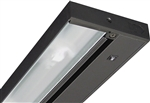 "Juno Undercabinet Lighting UPF12-NS-BL 12"" 8.4W T5 Lamp, 3000K Pro Fluorescent Undercabinet Fixture, No Rocker Switch, Black Finish"