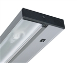 "Juno Undercabinet Lighting UPF12-SL 12"" 8W T5 Lamp, 3000K Pro Fluorescent Undercabinet Fixture, Silver Finish"