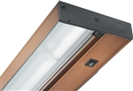 "Juno Undercabinet Lighting UPF22-NS-BZ-CP6 22"" 15.3W T5 Lamp, 3000K Pro Fluorescent Undercabinet Fixture, No Rocker Switch, with Portable 6"" Cord and Plug, Bronze Finish"