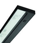 "Juno Under Cabinet Lighting LED UPLED14 30K 90CRI BL 6CP NS 14"" Pro Dimmable Fixture, 5.6 Watts, 299 Lumens, No Rocker Switch, with Portable 6"" Cord and Plug, Black Finish"