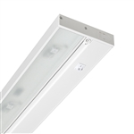 "Juno Under Cabinet Lighting LED UPLED14 30K 90CRI WH 6CP NS 14"" Pro Dimmable Fixture, 5.6 Watts, 299 Lumens, No Rocker Switch, with Portable 6"" Cord and Plug, White Finish"