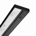 "Juno Under Cabinet Lighting Led UPLED09-NS-BL-CP6 9"" Pro Dimmable Fixture, 3.2 Watts, 150 Lumens, No Rocker Switch, with Portable 6"" Cord and Plug, Black Finish"