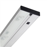 "Juno Under Cabinet Lighting Led UPLED09-NS-SL 9"" Pro Dimmable Fixture, 3.2 Watts, 150 Lumens, No Rocker Switch, Silver Finish"