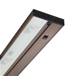 "Juno Under Cabinet Lighting Led UPLED22-BZ 22"" 6-Lamp Pro Dimmable Fixture, 8.1 Watts, 454 Lumens, Bronze Finish"