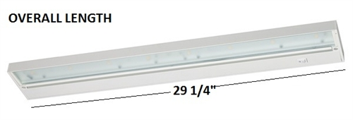 Juno Under Cabinet Lighting Led Upled30 Wh 30 8 Lamp Pro Dimmable Fixture 10 7 Watts 601 Lumens White Finish Indoor Light