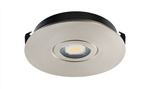 Juno Undercabinet Lighting USTLR1-3K-SN Solo-Task LED, Recessed Mount, 3000K Color Temperature, Satin Nickel Finish