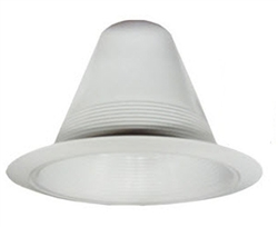 "Juno Lighting V3034W-WH (V3034 WWH) 6"" Line Voltage, Fluorescent, Full Baffle Trim - Fully Enclosed, White Baffle, White Trim"