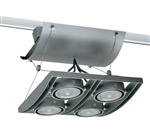 Juno Track Lighting XT16404-20H-SL AVIO Four Lamp - HID Metal Halide 20W CMH MR16 GX10 Quad Unit, Silver Color
