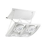Juno Track Lighting XT16404-20H-WH AVIO Four Lamp - HID Metal Halide 20W CMH MR16 GX10 Quad Unit, White Color