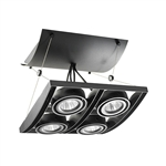 Juno Track Lighting XT16404-39H-BL AVIO Four Lamp - HID Metal Halide 39W CMH MR16 GX10 Quad Unit, Black Color