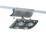 Juno Track Lighting XT16404GP AVIO Four Lamp - Low Voltage 20-50W MR16 Quad Unit, Graphite Color