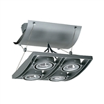 Juno Track Lighting XT16404SL AVIO Four Lamp - Low Voltage 20-50W MR16 Quad Unit, Silver Color