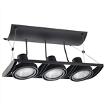 Juno Track Lighting XT30301BL AVIO Three Lamp - Line Voltage 35-75W PAR30 Unit, Black Color