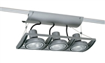 Juno Track Lighting XT30301SL AVIO Three Lamp - Line Voltage 35-75W PAR30 Unit, Silver Color
