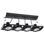 Juno Track Lighting XT30401BL AVIO Four Lamp - Line Voltage 35-75W PAR30 Linear Unit, Black Color