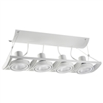 Juno Track Lighting XT30401WH AVIO Four Lamp - Line Voltage 35-75W PAR30 Linear Unit, White Color