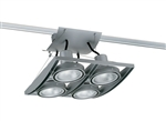 Juno Track Lighting XT30404SL AVIO Four Lamp - Line Voltage 35-75W PAR30 Quad Unit, Silver Color