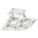 Juno Track Lighting XT30404WH AVIO Four Lamp - Line Voltage 35-75W PAR30 Quad Unit, White Color
