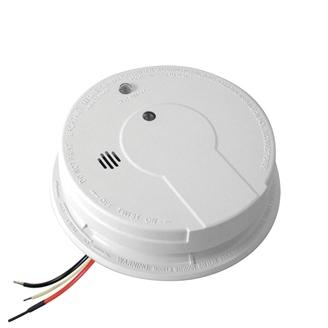 Kidde code one hardwire smoke detector with 9v battery backup.