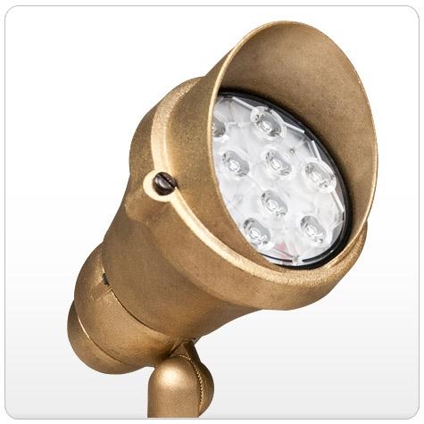 Kim Lighting C745NB 120V Die-Cast Brass Landscape Light Scarab Style 40W-150W PAR38 Incandescent / Halogen ... & Kim Lighting C745NB 120V Die-Cast Brass Landscape Light Scarab ...