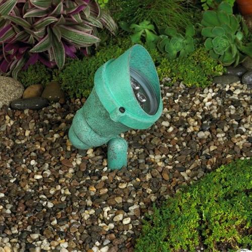 Kim Lighting C745vg 120v Cast Br Landscape Light Scarab Style 40w 150w Par38 Incandescent Halogen Verde Green Patina Finish