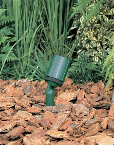 Kim Lighting Klv200gr 12v Low Voltage 20w 50w Mr11 Halogen Directional Cast Aluminum Landscape Light Round Hood Style Verde Green Finish