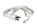 Lithonia UC 5FT POWERCORD WH M6 5' Power Cord and Plug White