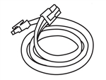 "Lithonia UC ERC24 BL M12 24"" Connector Cord Black"
