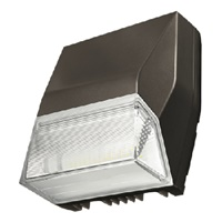 Lumark AXCS1A 14W Axcent LED Wall Light, Refactive Lens, 4000K, Carbon Bronze Finish