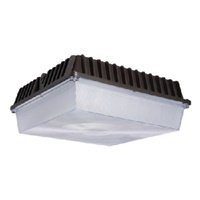 Lumark CLCSLED-55-SM-UNV-BPC 56W Low Profile Canopy Parking Garage Light, Surface Mount, 120-277V, 70 CRI, 4000K70 CRI, Button Photocontrol