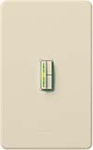 Lutron AB-600M-LA Abella 600W Incandescent / Halogen Single Pole / Multi Location Dimmer in Light Almond
