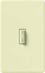 Lutron AB-S6AM-AL Abella 120V / 6A Digital Single Pole Switch in Almond