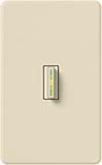 Lutron AB-S6AM-LA Abella 120V / 6A Digital Single Pole Switch in Light Almond