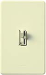 Lutron AY-10PNL-AL Ariadni 1000W Incandescent / Halogen Single Pole Preset Dimmer with Locator Light in Almond