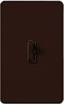 Lutron AY-10PNL-BR Ariadni 1000W Incandescent / Halogen Single Pole Preset Dimmer with Locator Light in Brown
