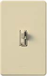 Lutron AY-10PNL-IV Ariadni 1000W Incandescent / Halogen Single Pole Preset Dimmer with Locator Light in Ivory