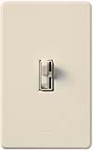 Lutron AY-10PNL-LA Ariadni 1000W Incandescent / Halogen Single Pole Preset Dimmer with Locator Light in Light Almond