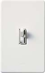 Lutron AY-10PNL-WH Ariadni 1000W Incandescent / Halogen Single Pole Preset Dimmer with Locator Light in White