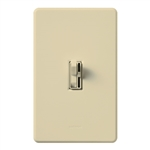 Lutron AY-600PNLH-IV Ariadni 600W Incandescent / Halogen Single Pole Preset Dimmer with Locator Light in Ivory