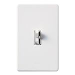 Lutron AY-600PNLH-WH Ariadni 600W Incandescent / Halogen Single Pole Preset Dimmer with Locator Light in White