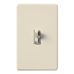 Lutron AY-603PGH-LA Ariadni 600W Incandescent / Halogen Single Pole / 3-Way Eco-Dimmer in Light Almond