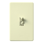 Lutron AY2-LSFQH-AL Ariadni 300W & 1.5A Single Pole Incandescent / Halogen Dimmer and 3-Speed Fan Control in Almond