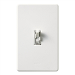 Lutron AY2-LSFQH-WH Ariadni 300W & 1.5A Single Pole Incandescent / Halogen Dimmer and 3-Speed Fan Control in White