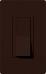 Lutron CA-1PSH-BR Claro 15A Single Pole Switch in Brown